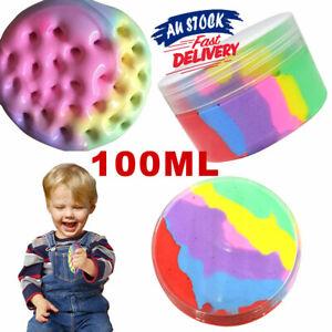 Rainbow Cotton Fairy Slime  Cloud Stress Relief Kids Toy Fluffy Ice cream Mud