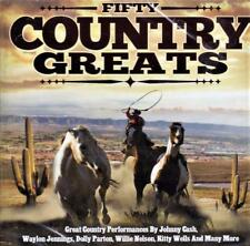 FIFTY COUNTRY GREATS  - VARIOUS ARTISTS (NEW SEALED 2CD) 50