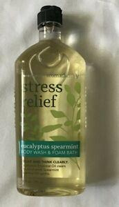 Bath Body Works Aroma therapy Stress Relief 10 oz Body Wash Eucalyptus Spearmint