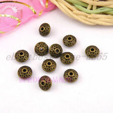 50pcs  Tibetan Silver Bronze Charms Spacer BEADS 6MM BE784