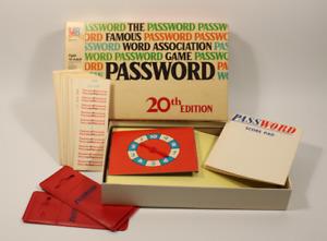 Vintage Password Game 20th Edition 1978 Milton Bradley
