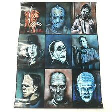 Beima Horror Scary Movie Characters Freddy Michael Myers Jason Cartoon Poster