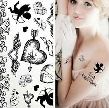Transfer Waterproof Temporary Tattoo The Arrow Of Love/Wing Body Art Sticker
