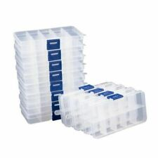 Juvale Clear Jewellery Box 10 Compartment Container with Adjustable Divider