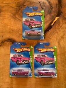 Lot of 3 2009 Hot Wheels Treasure Hunt 1955 '55 Chevy Bel Air Sealed T1