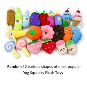Set of 12 Dog Cotton Toy Dog Chew Toys Puppy Squeaker Toys for Small Dog Yorkie