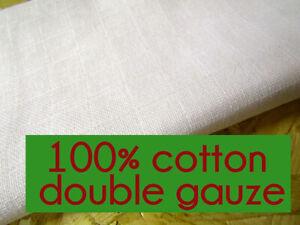 White 100% Cotton Fabric Double Gauze Swaddle Fabric Muslin Fabric Nappies