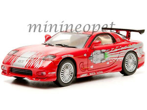 GREENLIGHT 86204 2001 THE FAST AND THE FURIOUS DOM'S 1993 MAZDA RX-7 1/43 RED