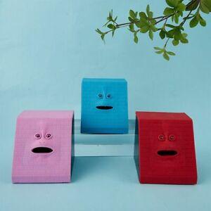 Piggy Bank Funny Facebank Face Sensor Coin Eating Saving Box Gift Kids