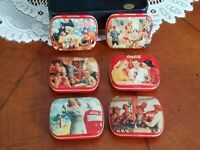 Coca Cola Hinged Mint Tins Vintage Antique Classic Lot Of 6