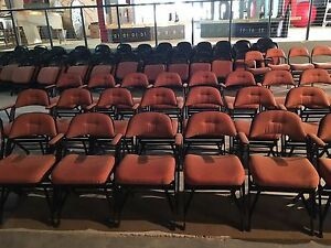 150 Clarin Chairs- Contour Series Upholstered Seat & Back 18'' w/Folding Armrest
