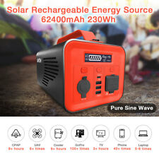AIMTOM 230Wh 62400mAh Portable Power Station Solar Rechargeable Battery Pack
