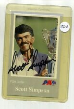 SCOTT SIMPSON AUTOGRAPH GOLF CARD WITH COA