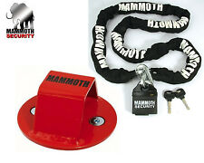 Mammoth Security Lock Chain And Ground Anchor Motorcycle Scooter Quad Bike