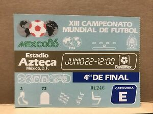 (for offers please write) MINT Used Maradona Hand Of God World Cup 1986 Ticket