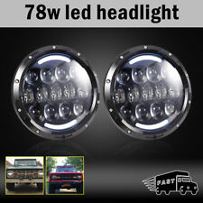 LED Color White DRL Headlight Fog Light Kit Combo for Wrangler JK 2007-2017