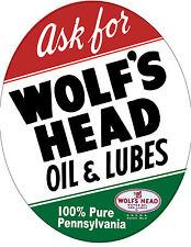 WOLF'S HEAD MOTOR OIL DECAL STICKER SUPER HIGH GLOSS OUTDOOR 4 INCH