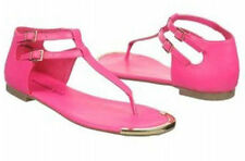 MADDEN GIRL *SUURGE*  FLAT SANDALS COLOR FUSCHIA SIZE 7.5 M
