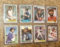 (8) Harold Baines 1981 1982 Topps Fleer Donruss Rookie 2nd Card Lot RC Sox HOF