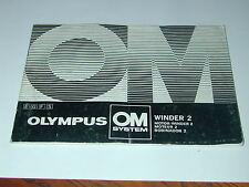 notice OLYMPUS OM moteur winder 2 français anglais espagnol photo photographie