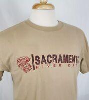 Sacramento River Cats T-Shirt Tan Cotton San Francisco Giants Minor League MiLB