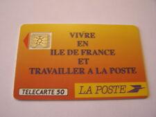 telecarte la poste ile de france 50u ref phonecote F136