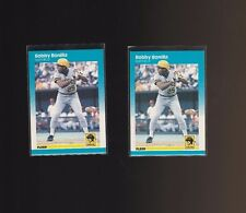1987 Fleer #605 Bobby Bonilla Pittsburgh Pirates Lot of 2