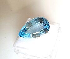 17.70ct.  Blue Topaz Pear Shape Genuine Natural Loose Stone Gemstone