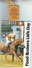 NEWMARKET 20 JULY 1985 RACECARD & TICKET FOOD BROKERS LTD'S DAY VGC