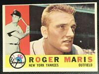 1960 Topps 377 Roger Maris Yankees Nice NMT Nice Color Sharp Edges OC Top