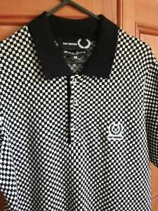 Fred Perry X Raf Simons Merino Wool Knitted Polo Shirt. Made In Italy. Size 38
