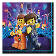 16 x Lego Movie Party Paper Napkins 33 x 33 cm Boys Lego Party Tableware Supplie