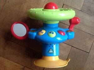 ELC Highchair Steering Wheel Suction Activity Toy with Light and Sound 6-24m