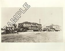 1940 MACK FCSW TRACTOR & BOTTOM DUMP, Tecumseh Coal, Indiana 8x10 B&W PHOTO #1
