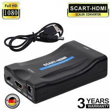 Scart zu auf HDMI 1080P HD TV Konverter Wandler Scaler Converter Adapter stecker
