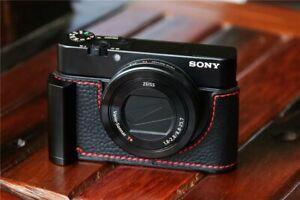 Genuine Real Leather Camera Half Case Grip for SONY RX100 Mark III/IV/V/VI/VII