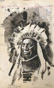 Little Horse| Ink On Historical 1932 Ledger | Dylan Cavin |Choctaw