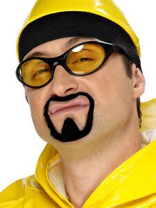 Adult Ali G Facial Hair Moustache And Goatee Beard Set Fancy Dress Accessory
