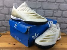 ADIDAS X GHOSTED.3 MENS UK 6 EU 39 1/3 FOOTBALL TURF SHOES WHITE GOLD RRP £55 M