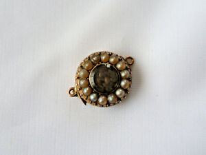 Antique victorian mourning clasp for single row of pearls or beads.