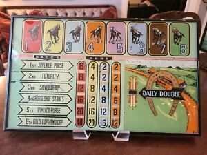 """Vintage EARLY HORSE RACING Pinball Machine Backglass FRAMED 19.5"""" x 12"""""""