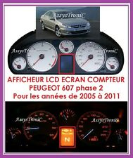 ECRAN LCD pour COMPTEUR ODB de  PEUGEOT 607 Phase 2 à Partir de 2005.!
