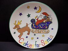 """Mikasa Holiday Christmas 11"""" Platter Plate """"Cookies for Santa""""  In sleigh"""