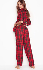 326407581e1 NWT VICTORIA S SECRET RED PLAID FLANNEL COZY SOFT PAJAMA SET RELAXED FIT  SMALL