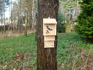 BAT/Roost Nest box X3  ECO friendly, Hand made by homes for woodland folk