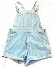 SOS Vintage Retro Dungaree Denim Shorts - Size Medium