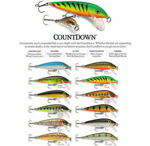 Rapala Countdown // CD05 // 5cm 5g Fishing Lures (Various Colors)