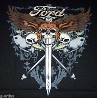 NEW FORD MOTOR COMPANY SKULLS & SWORDS SIZE L XL OR XXL MEN'S BLACK TEE SHIRT!