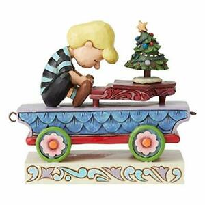 RARE Enesco Jim Shore Peanuts Schroeder Christmas Concerto Train Car 6003028