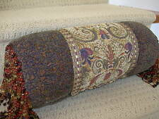 Contemporary Multi-Colored Beaded Bolster Pillow